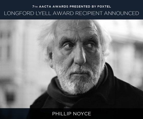 Phillip Noyce Will Get AACTA Longford Lyell Award –