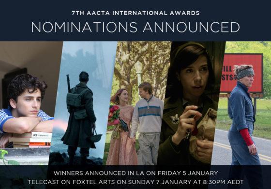AACTA  Announces  Nominees  7th AACTA International Awards