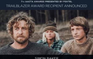 SIMON BAKER TO GET TRAILBLAZER AWARD AT ACCTA 2017