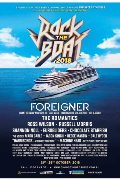 WHO'S WHO OF ROCK MUSIC JOIN TOGETHER FOR THE ANNUAL ROCK MUSIC FESTIVAL AT SEA