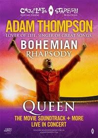 ADAM THOMPSON TOURS  BOHEMIAN  RHAPSODY – LIVE IN CONCERT 2020