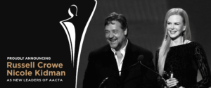 RUSSELL CROWE AND NICOLE KIDMAN ARE ON PRESIDENTIAL TEAM FOR AACTA