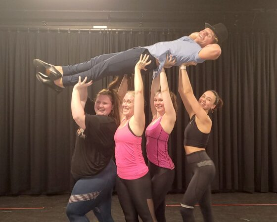 REHEARSALS HAVE COMMENCED AND THE PRODUCERS ARE LOOKING GOOD