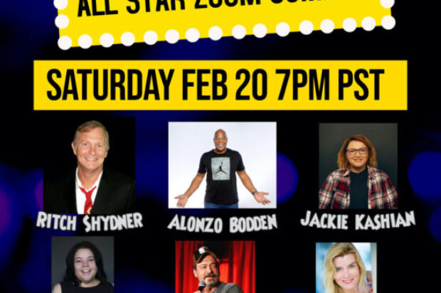 All Star Zoom Comedy Fundraiser: Comics Stand Up For Anton & Mari