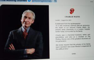 Rolling Stones  Charlie Watts Dies At 80 Years