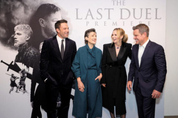 "MATT DAMON, JODIE COMER, AND BEN AFFLECK CELEBRATE RIDLEY SCOTT'S ""THE LAST DUEL"" AT THE FILM'S U.S. PREMIERE"